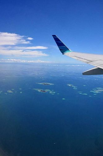 An hour overwater from Bali to Makassar, and then the islands appear