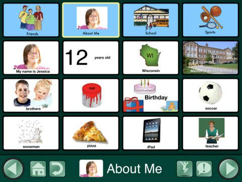 GoTalk Now is an AAC app that allows you to customize your boards. Available on Apple. -Courage Kenny Rehabilitation Institute
