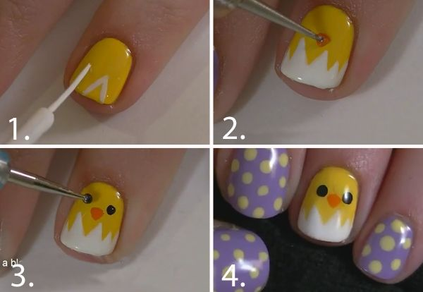 Cute nail art idea for Easter!