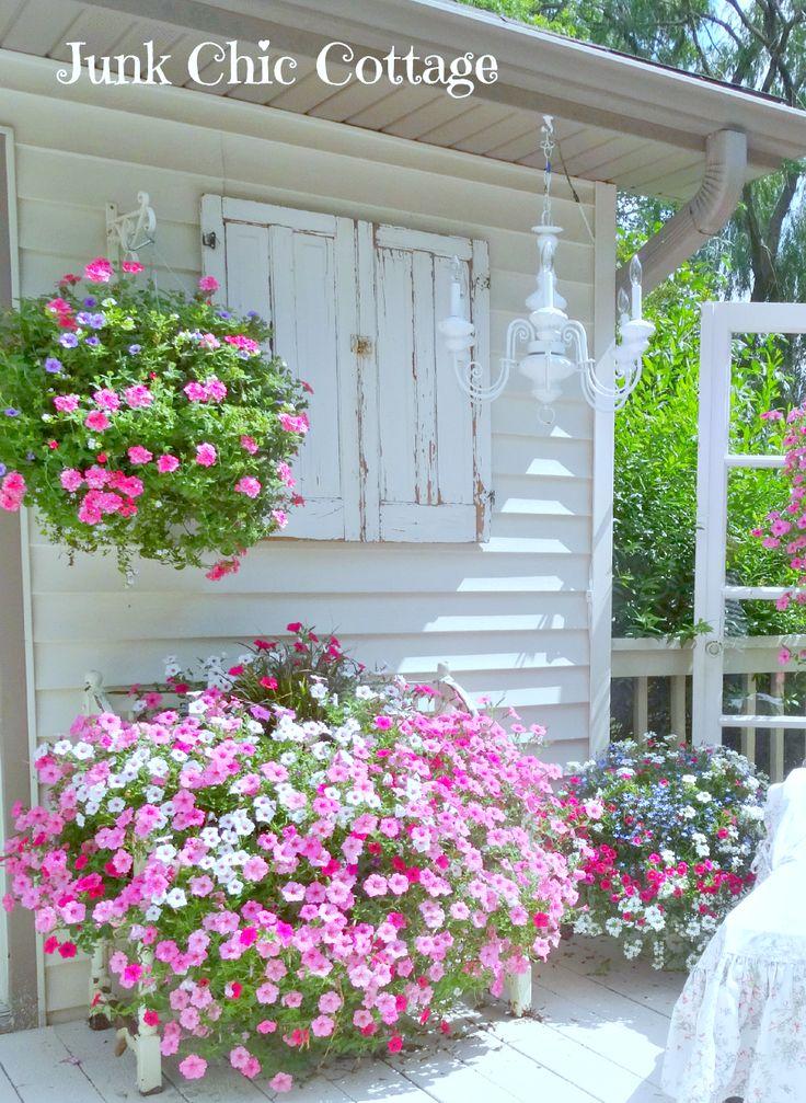 Indésirable Chic Cottage: Sanctuary Garden et président du Nouveau Salon Housse