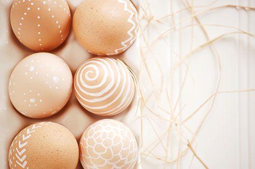 white paint pen easter eggs