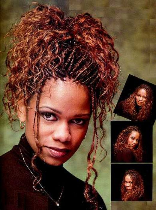 hairstyles/ braids. curly and braids hairstyle updo curly and braids