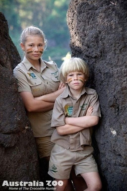 Bindi Irwin and Bob Irwin   (daughter and son of The Crocodile Hunter, Steve Irwin (RIP), and Terri Irwin)