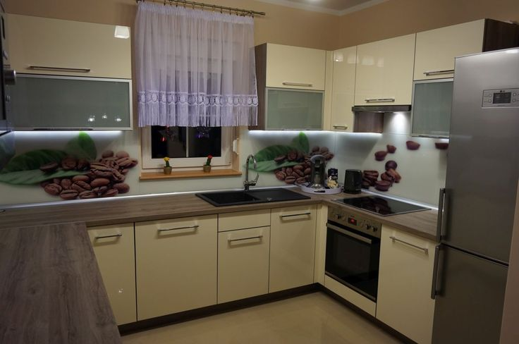 Meble kuchenne - realizacja FILMAR meble www.filmarmeble.pl #fototapeta #kawa #kuchnia