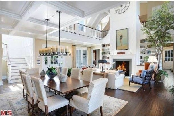 Howie Mandel's Cape Cod Style Malibu Home - dining room , living room