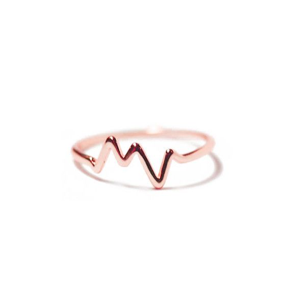 """Electric"" Rose Gold HeartBeat Ring"