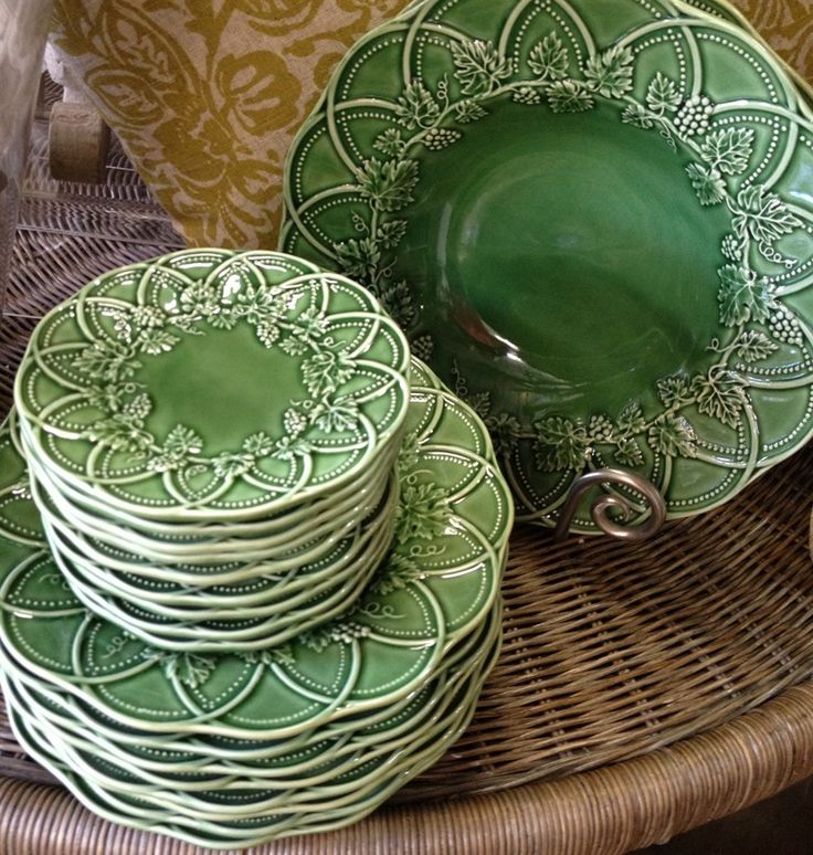 Poyntons Nursery Interiors|tableware, Bordallo Pinheiro, green, portugal