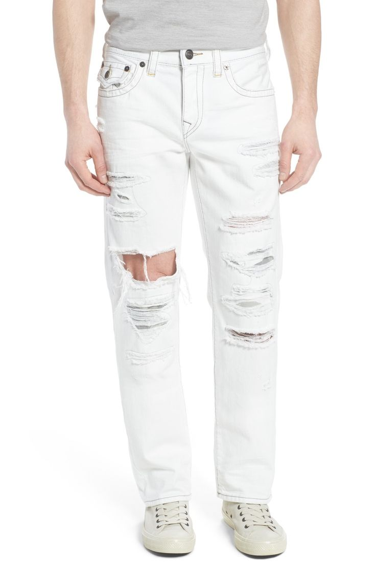 Main Image - True Religion Brand Jeans Ricky Relaxed Fit Jeans (White Moon)