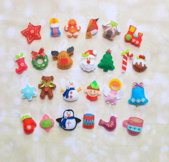 Ornamenti di Natale feltro ornamenti di MiracleInspiration