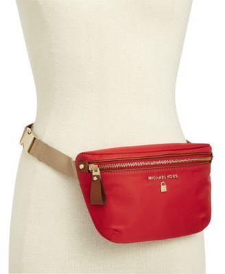 5d5068f034f2 MICHAEL Michael Kors Nylon Belt Bag, Created for Macy's $68.00 Lightweight  nylon comprises a MICHAEL Michael Kors belt bag that's roomier (and more ...