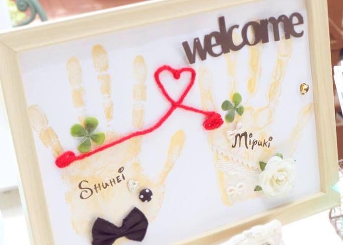 手作りしたい手形や足形を使った結婚式ウェルカムボード