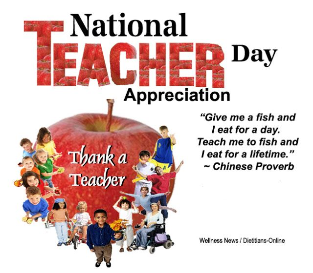 Dietitians Online Blog: May 3, 2016 National Teacher Appreciation Day