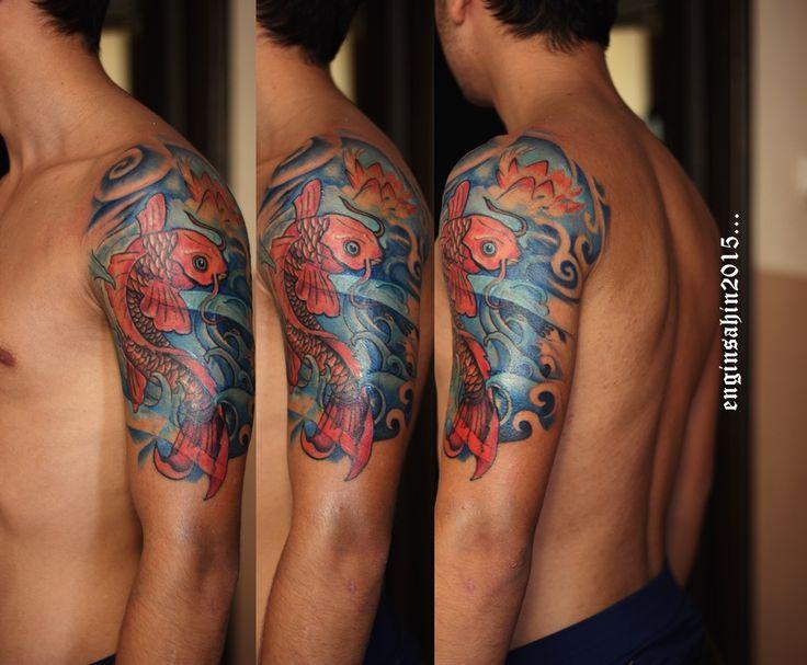 tattoo - dövme - engin şahin - koi tattoo - koi dövmesi - koi fish - koi balığı - taksim dövme