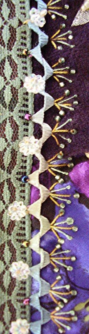 Twisted Ric Rac #embroidery #stitches #crazy quilt