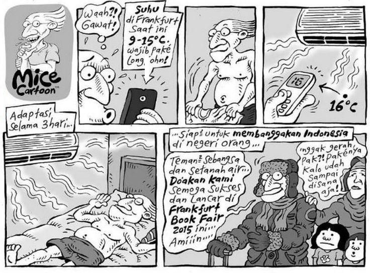 Mice Cartoon, Kompas - 11 Oktober 2015: Frankfurt Book Fair 2015