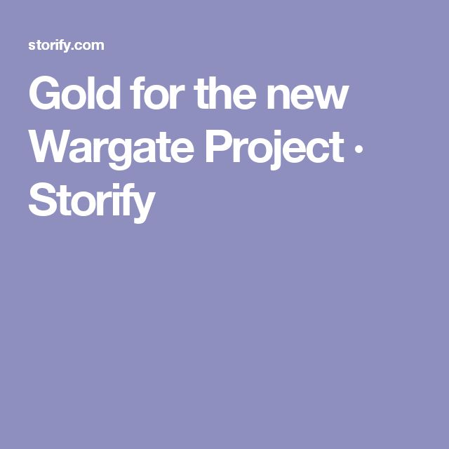 Gold for the new Wargate Project · Storify