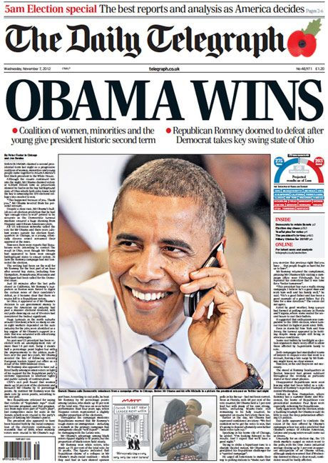 Barack Obama wins US election: how newspapers recorded history - Telegraph
