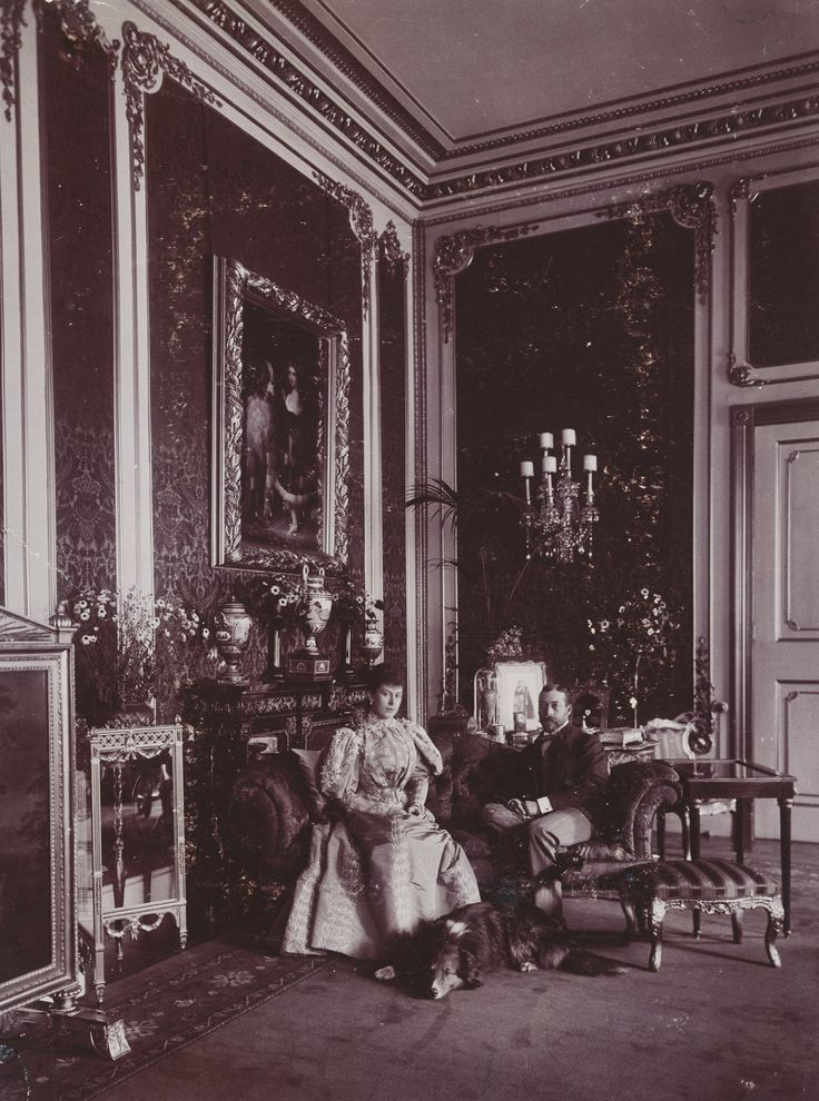 The Royal Collection: The Duke and Duchess of York, York House, St James's Palace, 1896 [in Portraits of Royal C