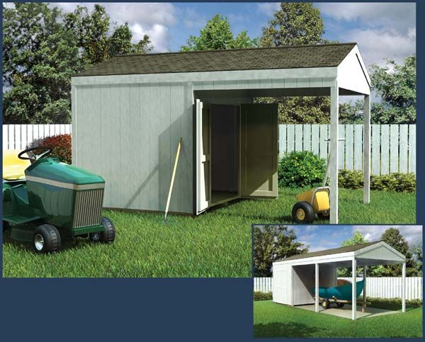 21 best images about garden sheds on pinterest for Carport with storage shed plans
