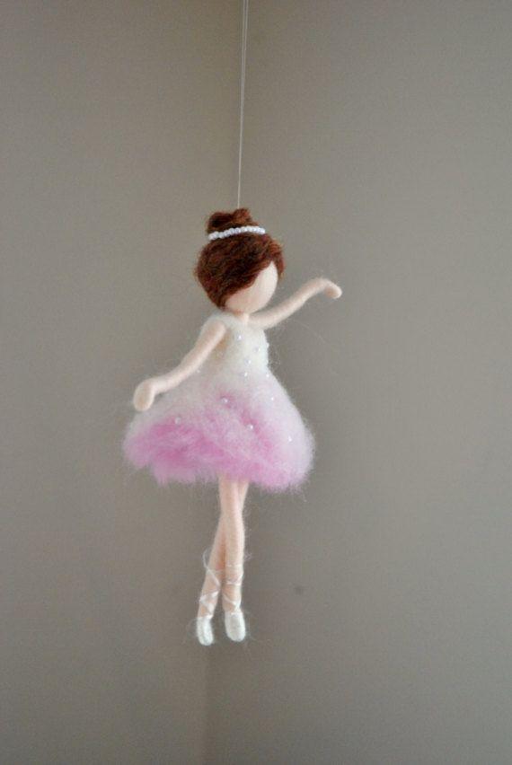 Ballerina  Ornament Needle Felted wool ornament    : Ballerina