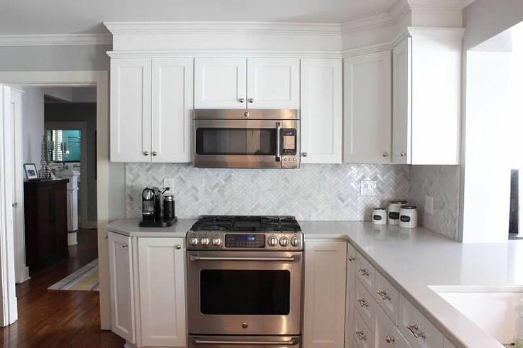 Caesarstone London Grey Countertops White Painted