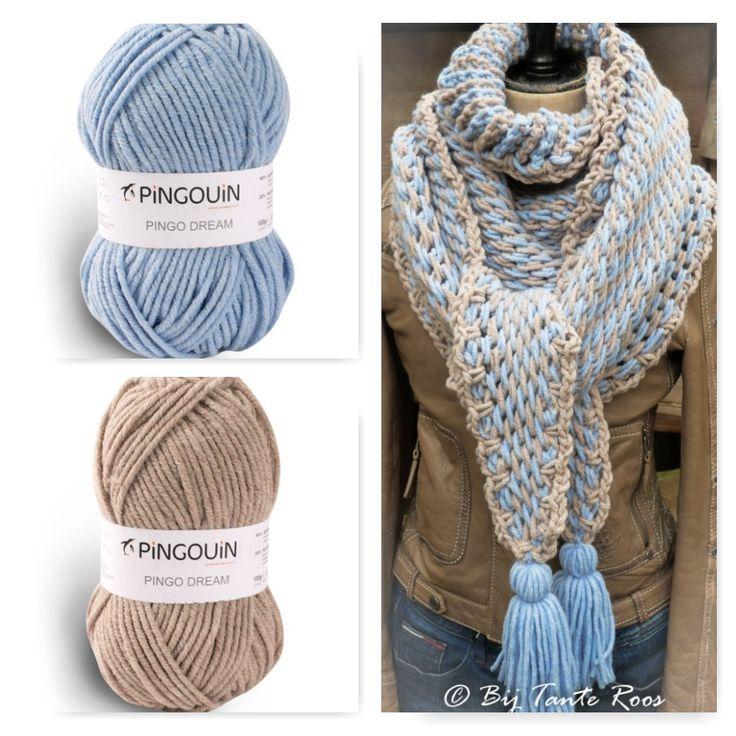 """Leuke sjaal Tunisch gehaakt met de 'full stitch'. De gebruikte techniek is tunisch haken, een variatie op het reguliere haken. En is echt heel erg gemakkelijk! De """"full stitch"""" geeft een zachte structuur en geeft aan de achterzijde het effect van een breisteek. Er is gekozen voor de tunische verwisselbare haaknaald van Tulip in de …"""