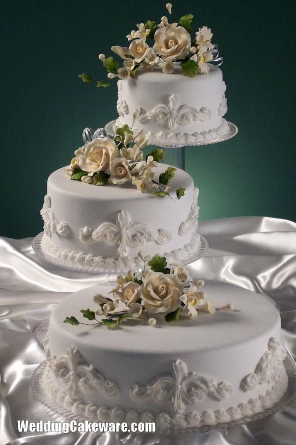Simple 3 Tier Wedding Cakes | Wedding Cake Stands Plates:3 TIER CASCADE WEDDING CAKE STAND STANDS ...