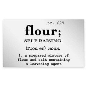 Self Raising Flour Clear Jar Label