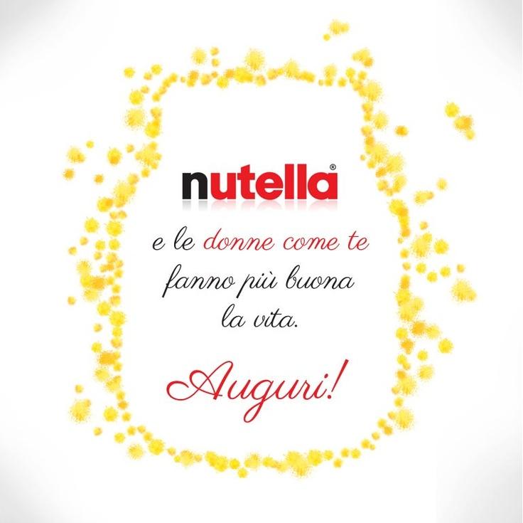 #Nutella festggia le Donne