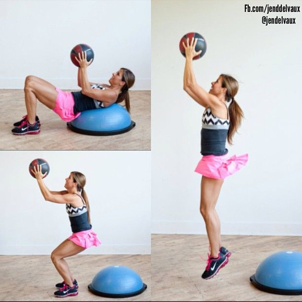 Bosu Ball Oblique Crunches: 17 Best Workout Bosu Ball Images On Pinterest