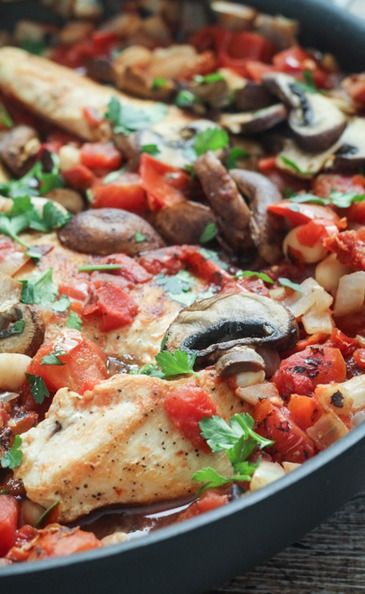 Tuscan Chicken Skillet... Nice one-dish meal