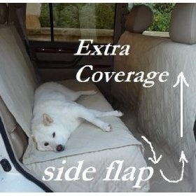 Back Seat Cover to Protect the interior of the new car - This one covers the sides of the seat, the floor, and the backs of the front seats - Has good reviews on amazon.