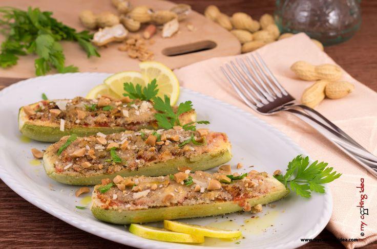 My Cooking Idea. Ricette vegetariane, ricette vegane.: Zucchine farcite con arachidi