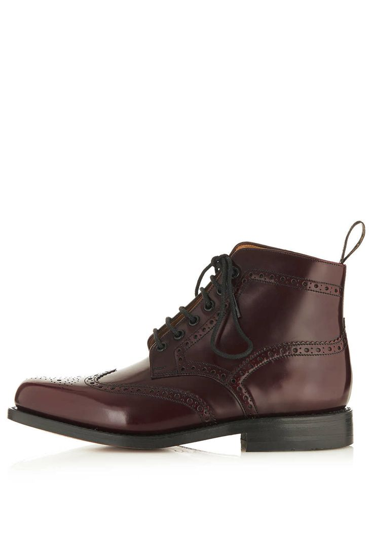 Traditional Brogue Boot by LOAKE for Topshop - Topshop