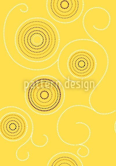Aborigine Sunny Twirls designed by Martina Stadler, vector download available on patterndesigns.com