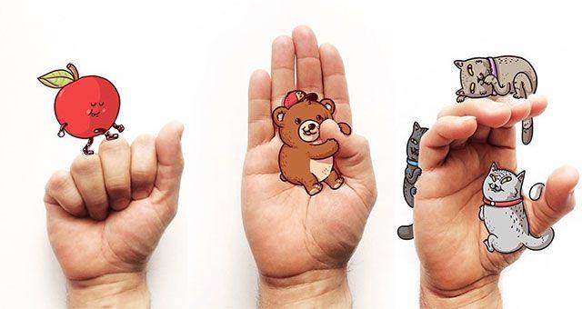 L'illustratore statunitense Alex Solis crea delle divertenti illustrazioni per facilitare l'apprendimento della lingua dei segni