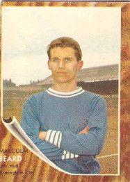 Malcolm Beard of Birmingham City in 1961.