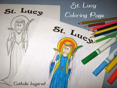 St. Lucy ~ Coloring Page