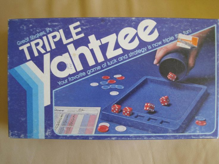 Vintage 1982 triple Yahtzee game with red by AltmodischVintage, $15.00