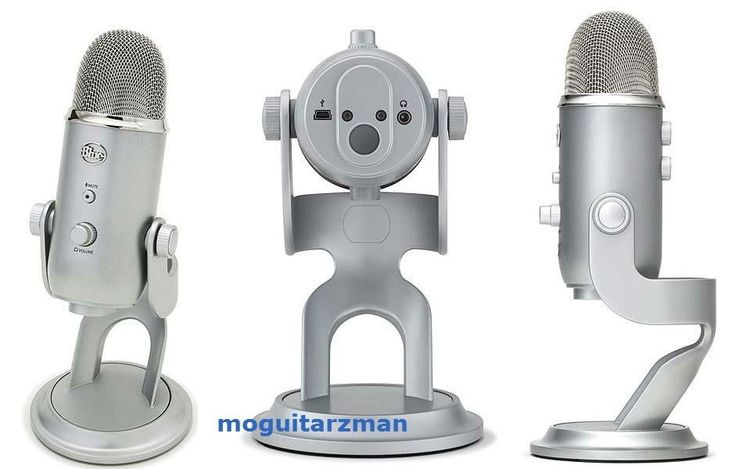 Blue Microphones Yeti USB PC Mac Voice Video Podcast Skype Adjustable Stand Mic