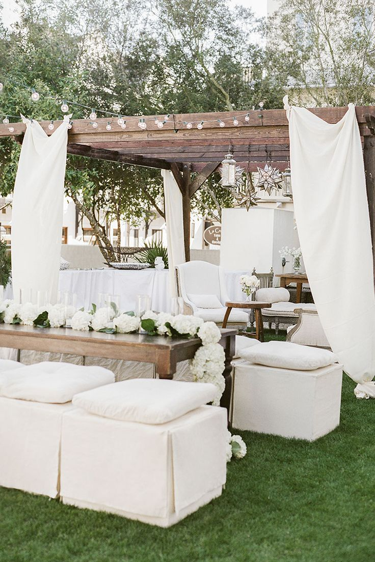 Transform any space into an elegant oasis with white rentals and decor.   - HarpersBAZAAR.com