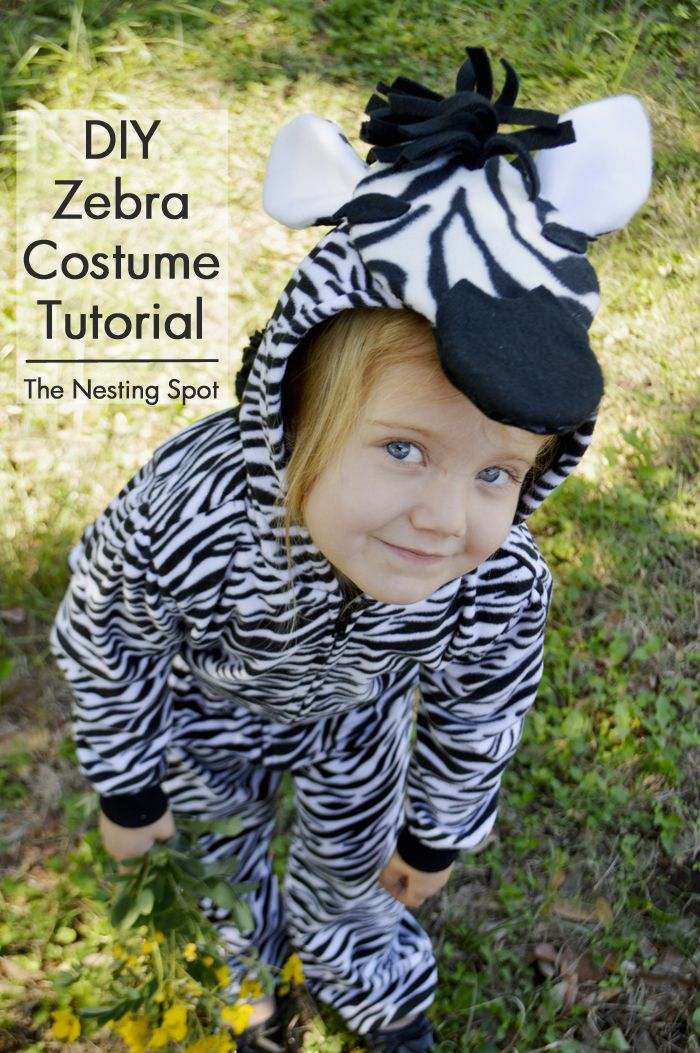 DIY easy zebra costume tutorial