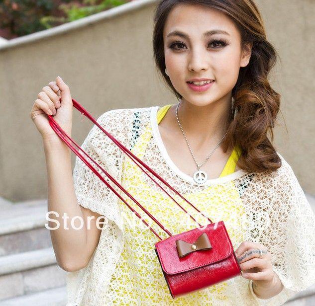 popular bowknot clutch day evening bag PU leather shoulder bag sling Handbag Designer Lady girl's women Fashion $44.10