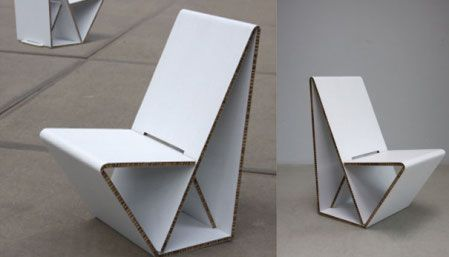 Cartón reciclado | sillas de cartón Vouwwow - DecoraHOY