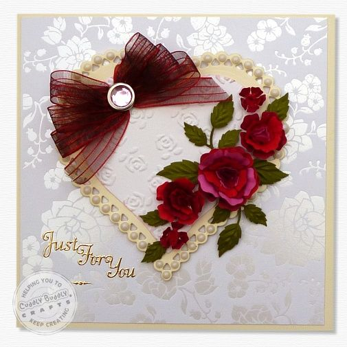 Heart & Roses Card < Ideas   Cuddly Buddly Crafts