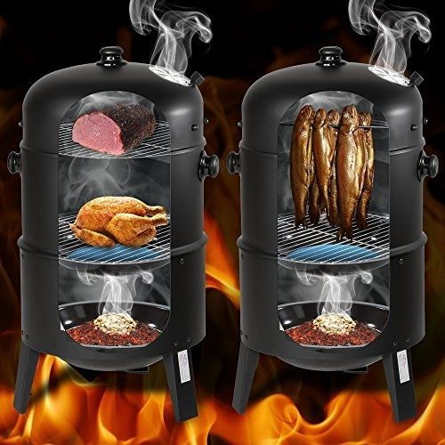 TecTake-BBQ-Charcoal-barbecue-smoker-with-heat-indicator-different-models