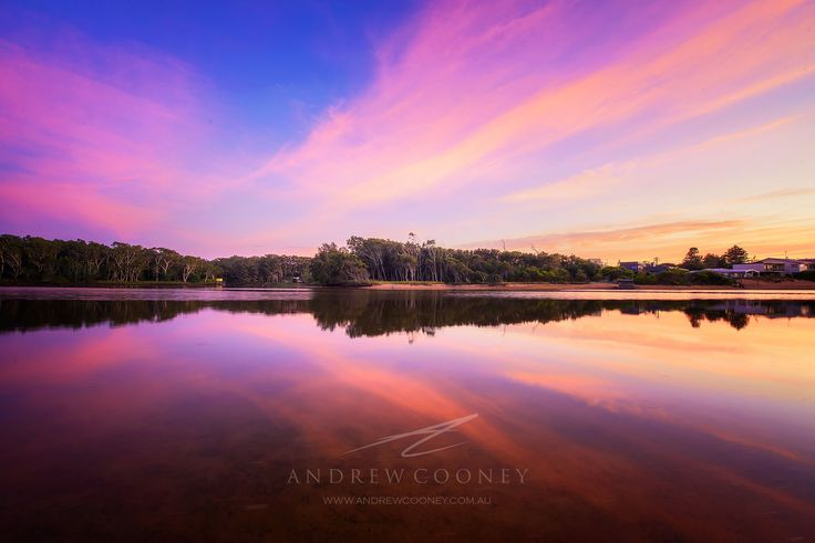 A beautiful Sunrise over Avoca Lagoon. Perfect reflections, topped off with pinks to light up the sky.   Image: Andrew Cooney