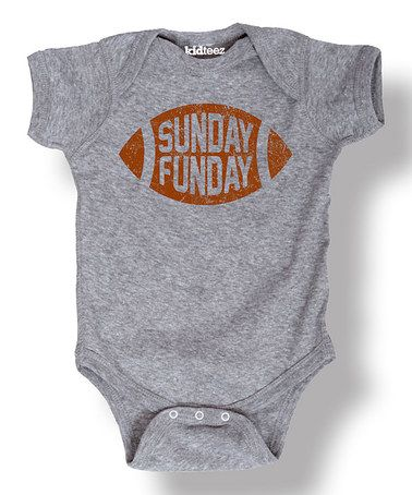 This Athletic Heather 'Sunday Funday' Football Bodysuit - Infant is perfect! #zulilyfinds
