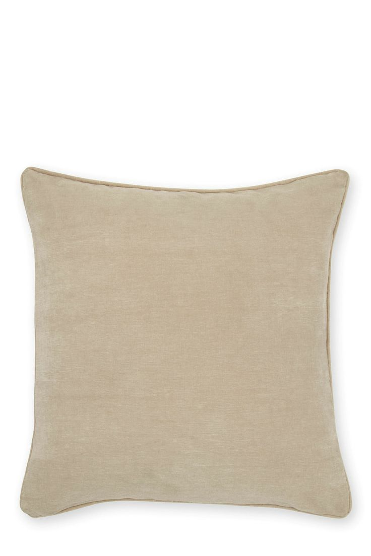 Soft Velour Cushion in natural