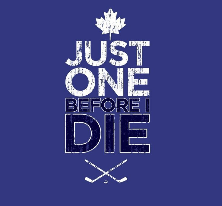 That's the spirit! It's available right now as a t-shirt on eBay for $19.95 USD: http://www.ebay.ca/itm/Just-One-Before-I-Die-Toronto-Maple-Leafs-Stanley-Cup-Dream-/151091685985?clk_rvr_id=513741265887